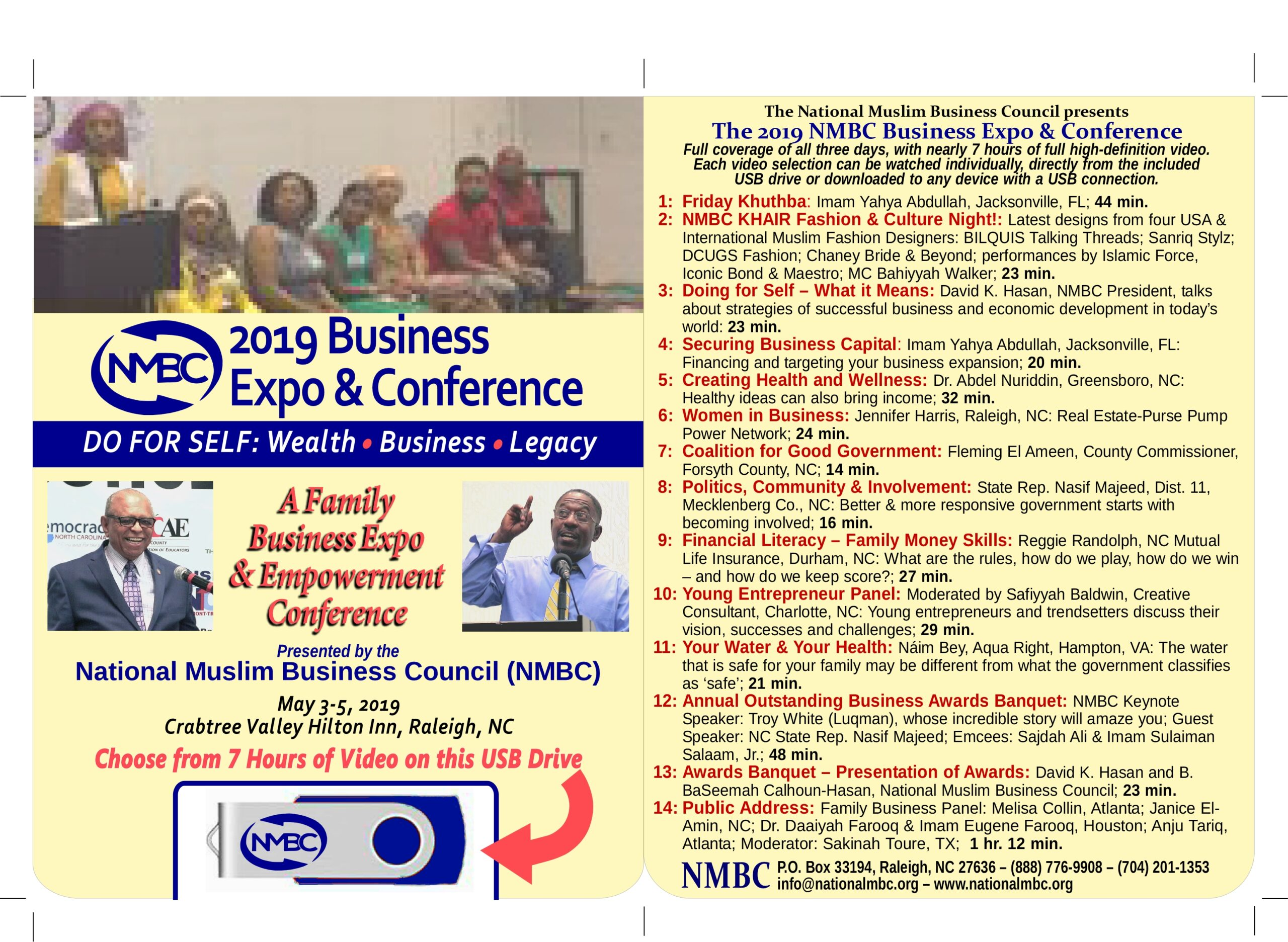 2019 Conference Program DVD For Sale